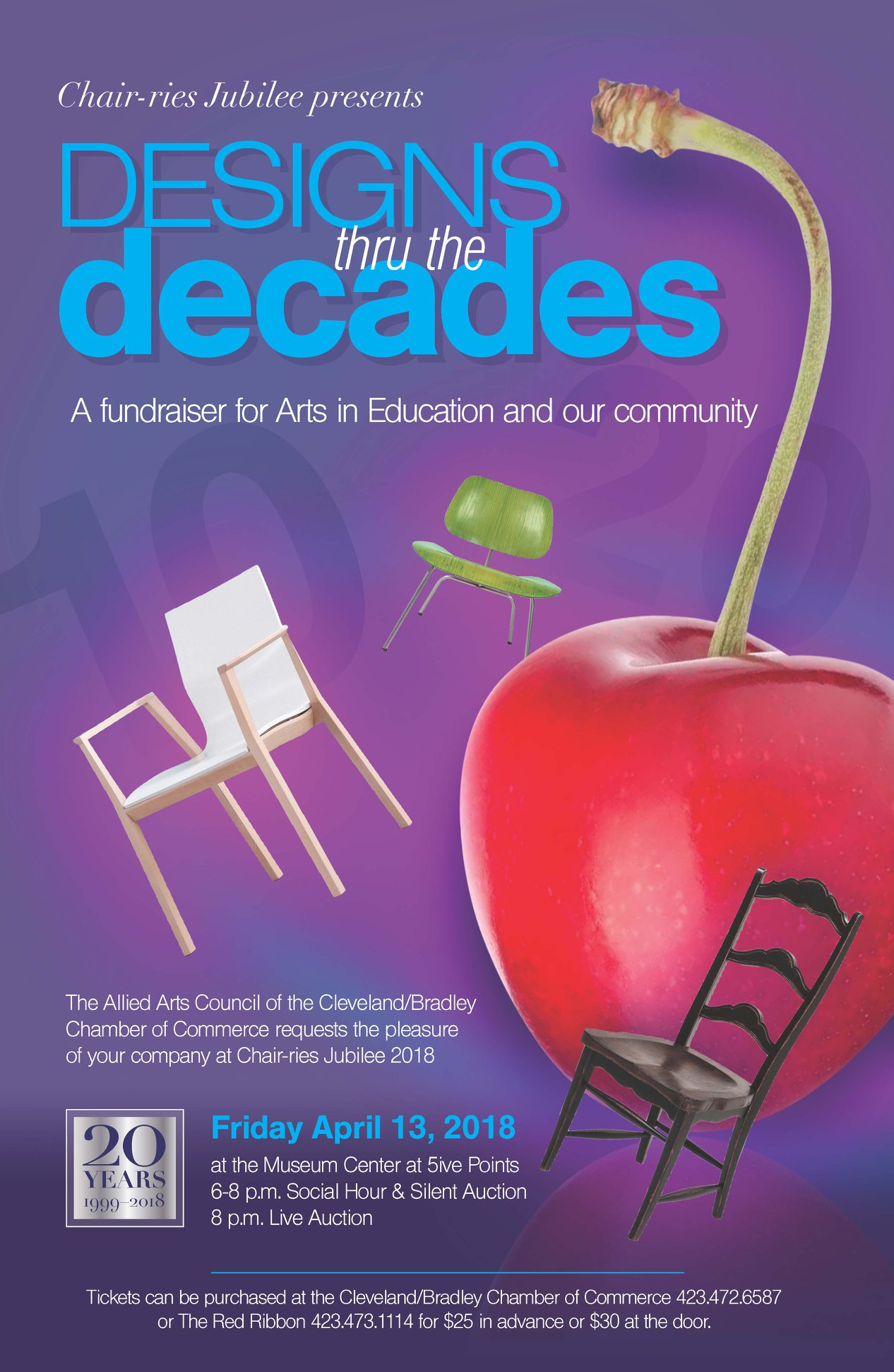 Chair Ries Jubilee 2018, U201cDesigns Thru The Decadesu201d, Will Be Friday, April  13, 2018 At The Museum Center At 5ive Points Beginning At 6:00 P.m.  Admission ...
