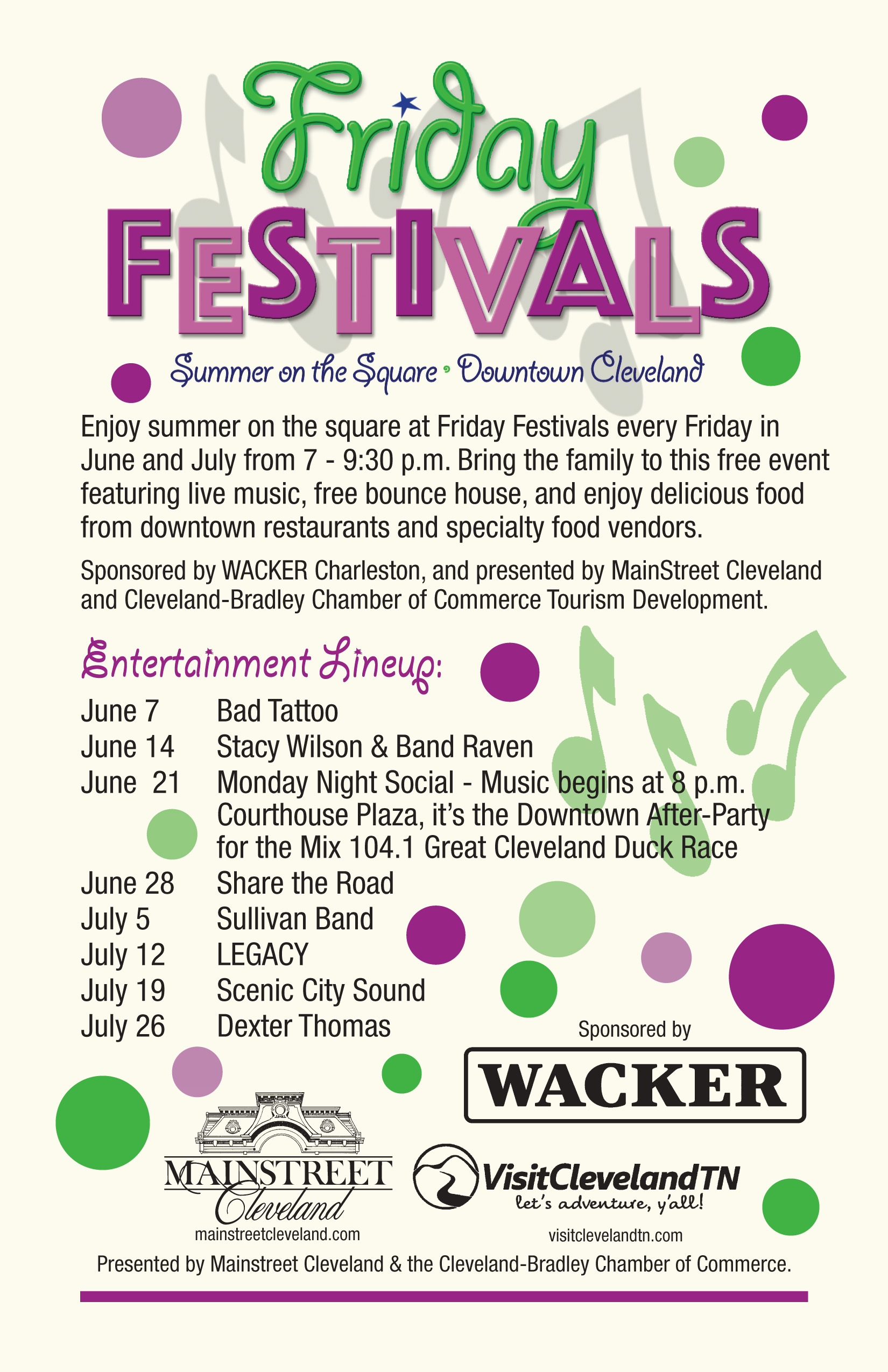 Friday Festivals - Visit Cleveland TN