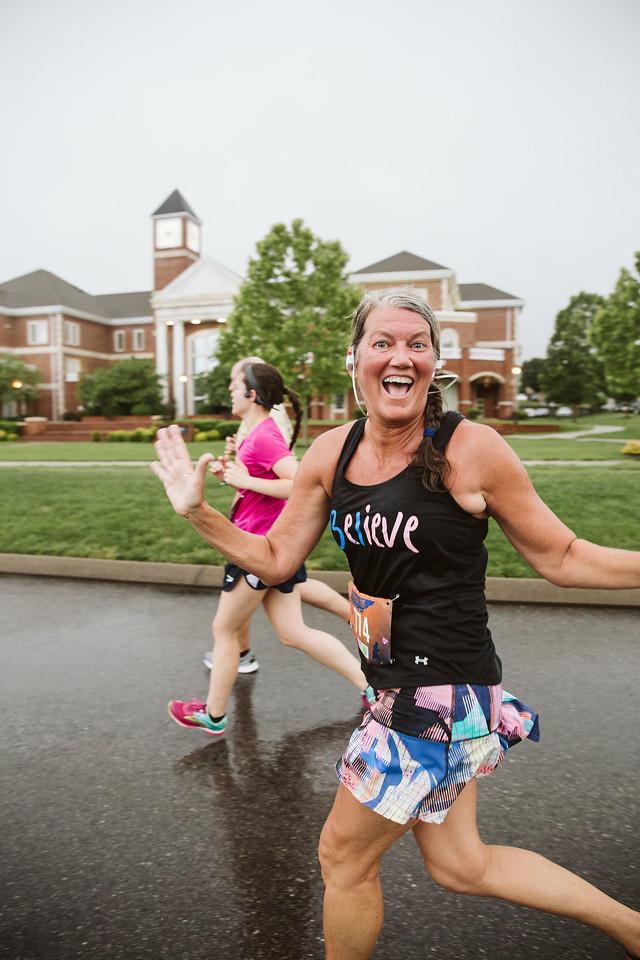 Running at Lee University Cleveland TN